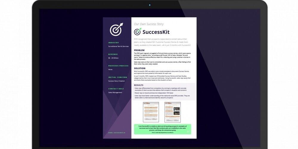 Create More Effective B2B Case Studies Using SuccessKit